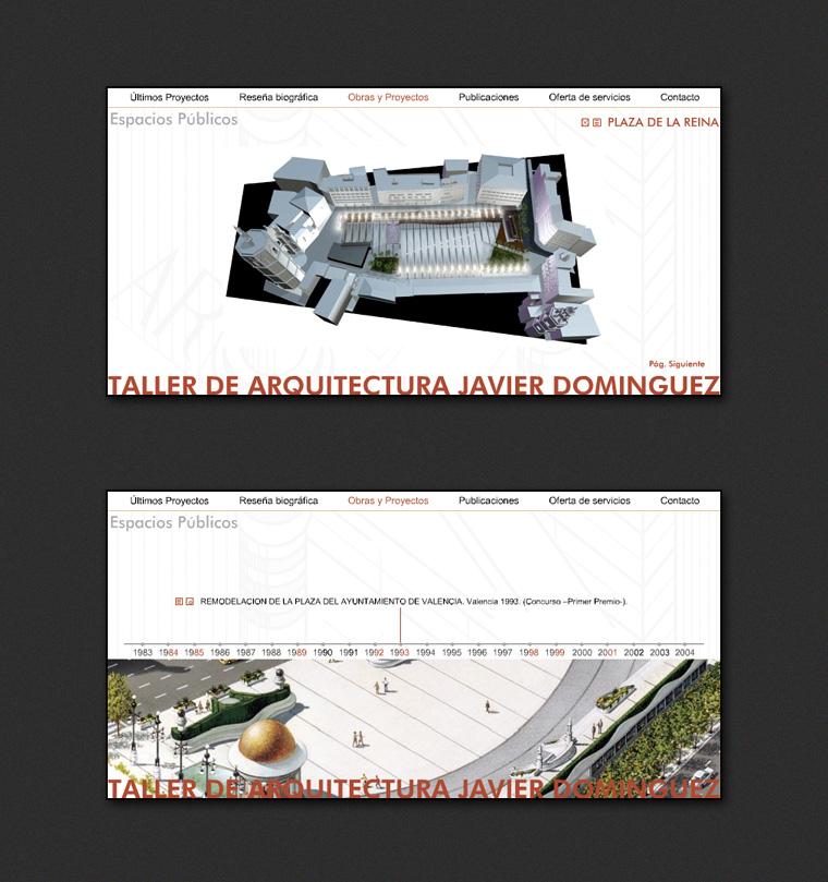 Página Web Javier Domínguez Arquitecto