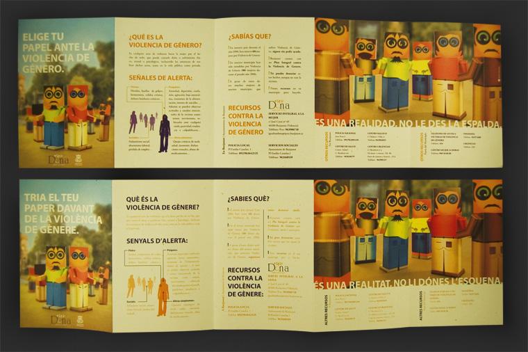 Folletos Campaña Violencia de Género Ayto. Burjassot